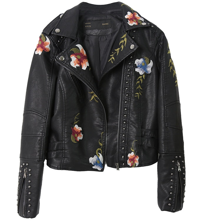 Black Floral Printed Jacket
