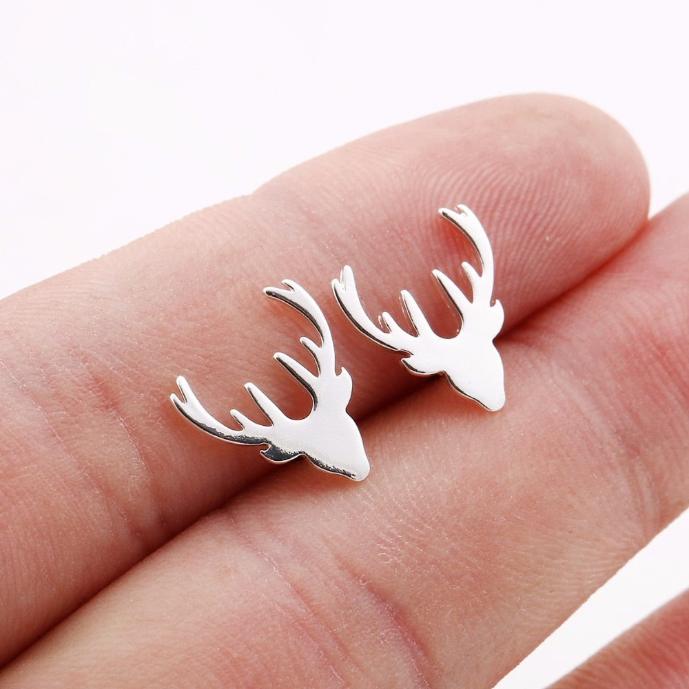 Deer Stud Earrings-Pretty Shining People