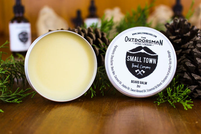 Outdoorsman Beard Balm by Small Town Beard Company in Texas