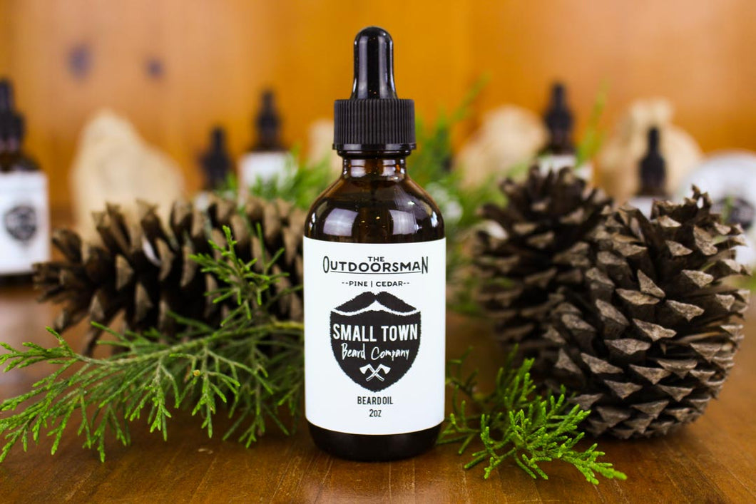 Outdoorsman Beard Oil by Small Town Beard Company in Texas