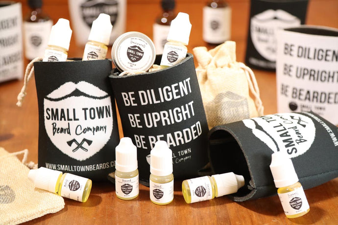 Trial pack beard oil by Small Town Beard Company