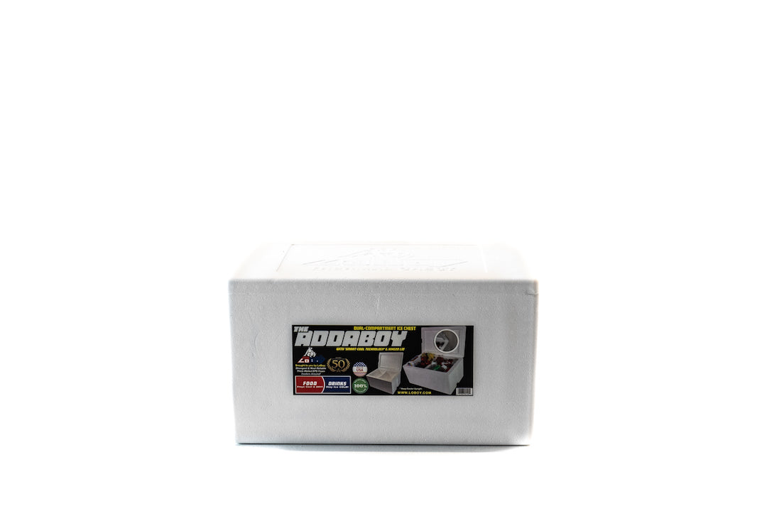 "LoBoy ""Addaboy"" Thick Wall Dual-Compartment Foam Cooler #105"