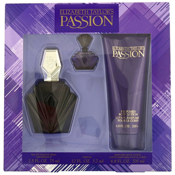 Passion by Elizabeth Taylor for Women 2.5 oz EDT Gift Set - Perfumes Los Angeles