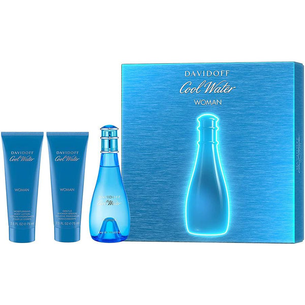 Cool Water by Davidoff for Women 3.4 oz EDT Gift Set - Perfumes Los Angeles