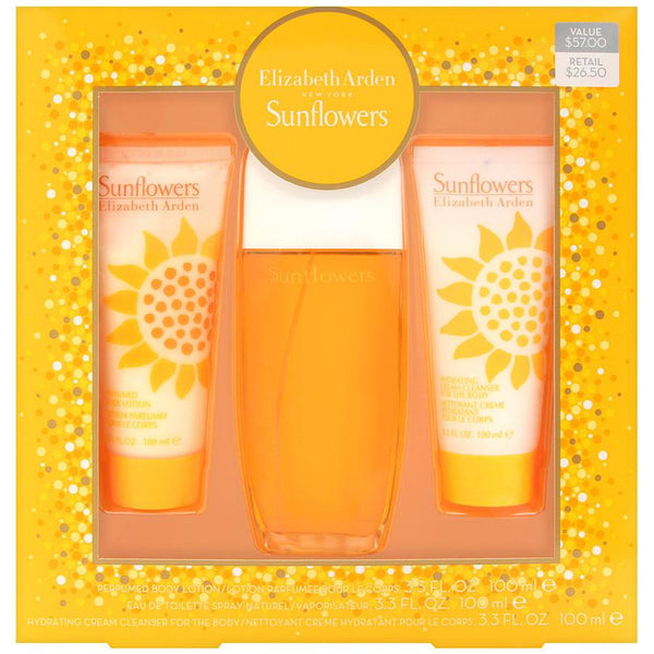 Sunflowers by Elizabeth Arden for Women 3.4 oz EDT Gift Set - Perfumes Los Angeles
