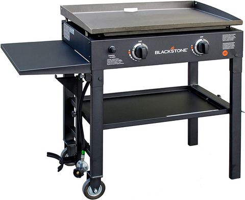 Blackstone 28 inch Outdoor Propane-Fueled Flat Top Gas Grill Griddle Station with 2-burner Propane