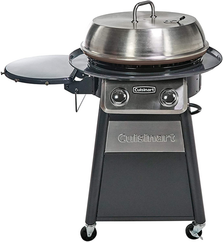 Cuisinart CGG-888 Grill Stainless Steel Outdoor Flat Top Gas with 360° Griddle Cooking Center