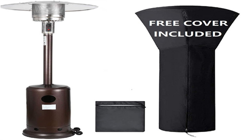 Nother 48000 BTU Propane Patio Heater with Adjustable Thermostat, Cover and Wheels.