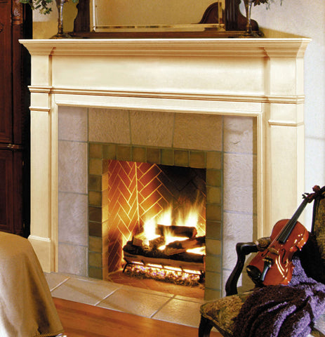 Image of Pearl Mantels 120 Windsor Fireplace Mantel Surround - Fireplace Choice