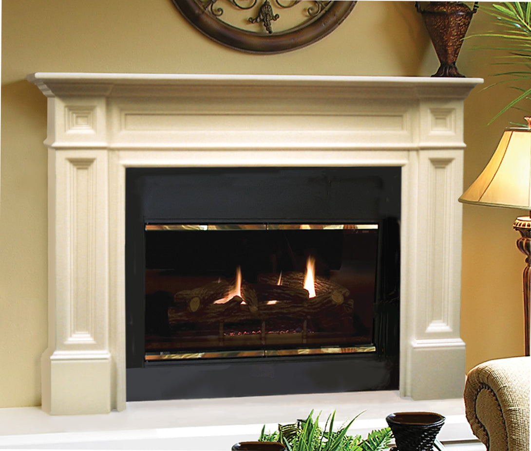 Pearl Mantels 140 Classique Fireplace Mantel - Unfinished