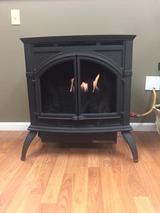Empire Heritage Vent-Free Cast Iron Gas Stove with Matte Finish - Fireplace Choice