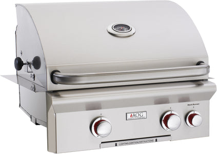 "American Outdoor Grill 24"" T-Series 2-Burner Built-In Gas Grill With Rotisserie - Fireplace Choice"