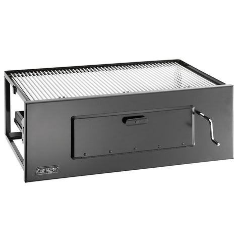 Image of Fire Magic Lift-A-Fire Built-In Large Charcoal Grill - Fireplace Choice