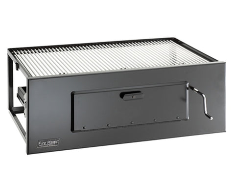 Fire Magic Lift-A-Fire Large Built-In Charcoal Grill - 3334 + 3543-DS-3 + 3334-70