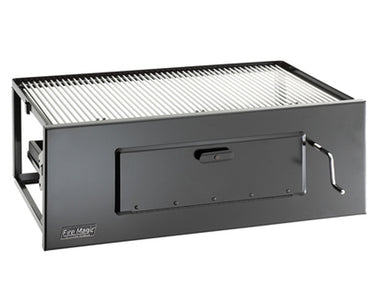 Fire Magic Lift-A-Fire Large Built-In Charcoal Grill - Fireplace Choice