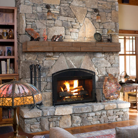 Image of Pearl Mantels 351R Cades Cove Shiplap Mantel Shelf - Fireplace Choice