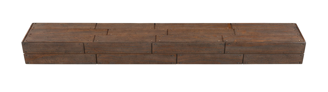 Pearl Mantels 351R Cades Cove Shiplap Mantel Shelf - Fireplace Choice