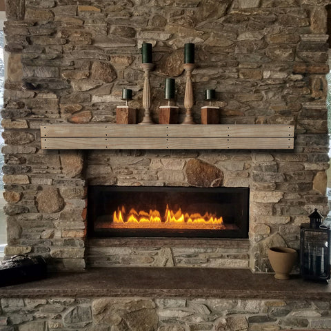 Image of Pearl Mantels 351S Cove Pallet-Style Mantel Shelf - Fireplace Choice