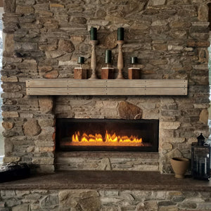Pearl Mantels 351S Cove Pallet-Style Mantel Shelf - Fireplace Choice