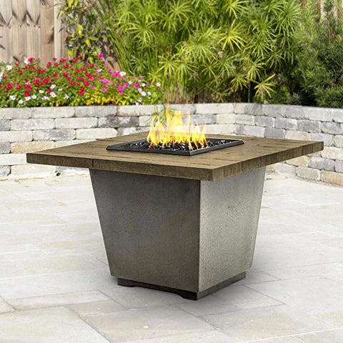 American Fyre Designs Cosmopolitan  Gas Firetable - Black Lava - Fireplace Choice