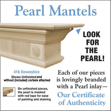 Pearl Mantels Devonshire 416 Mantel Shelf - Fireplace Choice