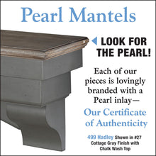 Pearl Mantels No. 499 Hadley Multipurpose Mantel Shelf - pearl inlay for authenticity
