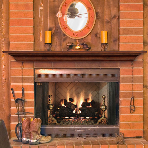 Image of Pearl Mantels 418 Homestead Mantel Shelf - Antique Birch Finish - Fireplace Choice