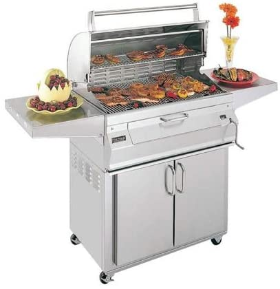 "Fire Magic Legacy 24"" Freestanding Charcoal Grill with Smoker Oven/Hood - 22-SC01C-61 - Fireplace Choice"