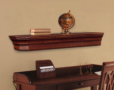 Pearl Mantels 490 Lindon Mantel Shelf - Cherry Distressed - Fireplace Choice