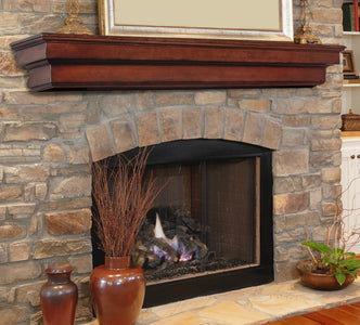 Pearl Mantels 495 Auburn Fireplace Mantel Shelf - Fireplace Choice