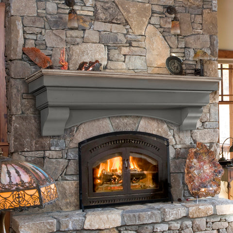 Pearl Mantels 499 Hadley Multipurpose Mantel Shelf - Cottage Finish - Fireplace Choice