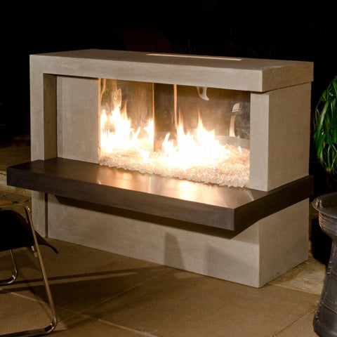 "American Fyre Designs Manhattan 59"" Outdoor  Gas Fireplace - Cafe Blanco - Fireplace Choice"
