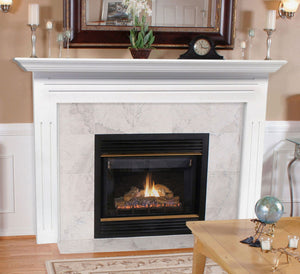 Pearl Mantels 510 Newport MDF Fireplace Mantel - White Paint