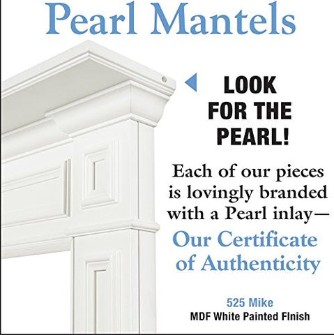 Pearl Mantels 525-48 Mike MDF Fireplace Mantel - White - Fireplace Choice