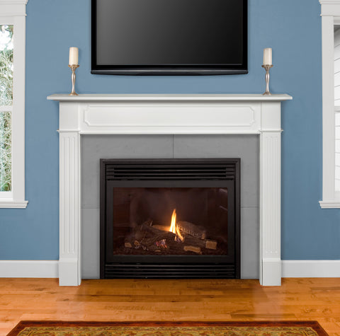 Pearl Mantels 520-48 Berkley White Fireplace Mantel - Fireplace Choice