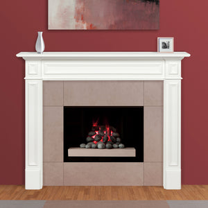 Pearl Mantels 525-48 Mike Fireplace Mantel - White - Fireplace Choice
