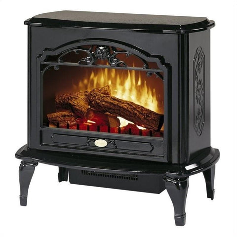 Image of Dimplex Celeste Black Electric Fireplace Stove with Remote Control - TDS8515TB - Fireplace Choice