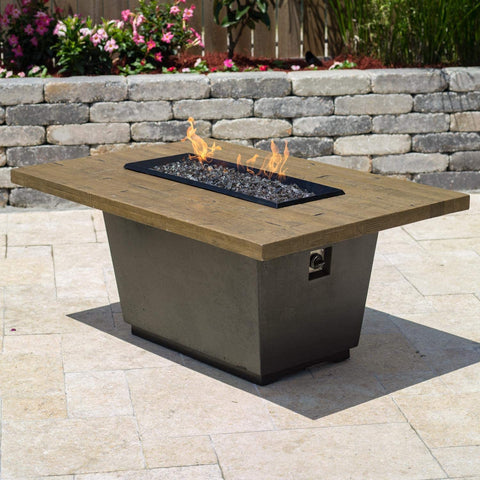 Image of American Fyre Designs Cosmopolitan  Gas Firetable - Black Lava - Fireplace Choice