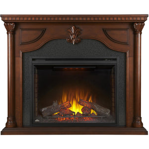 Napoleon Aden 64-Inch Electric Fireplace Mantel Package with 40-Inch Ascent Firebox - Cherry Wood - Fireplace Choice