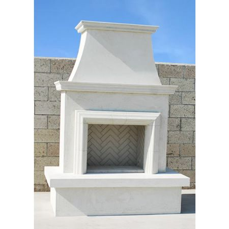 Image of American Fyre Designs Direct-Vent Contractor's Fireplace with Moulding - 045-11-A-WC-RBC - Fireplace Choice