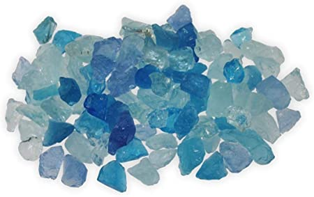 Firegear  5-lb Caribbean Blue Fireglass (GL-LIGHTBLUE) - Fireplace Choice