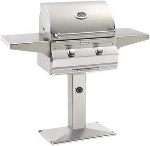 "Fire Magic Choice 24"" Grill With Analog Thermometer On Patio Post -  C430S-RT1-P6 - Fireplace Choice"
