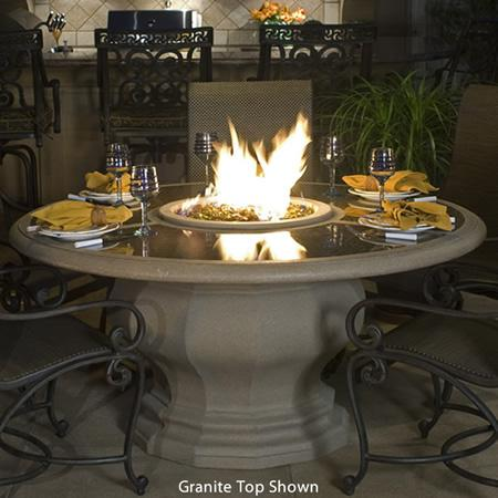 American Fyre Designs Inverted Dining Gas Firetable - 675 Model - Fireplace Choice