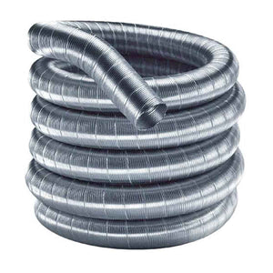 DuraFlexSS 6'' x 35' - 304 Stainless Steel Chimney Liner - 6DF304-35 - Fireplace Choice