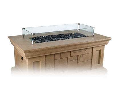 American Fyre Designs Glass Wind Guard For Fire Tables - Fireplace Choice