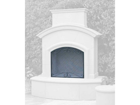 Image of American Fyre Designs Black Scroll Screen for Chica Fireplaces - 8249-BL - Fireplace Choice