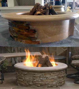 American Fyre Designs Contractor's Model Gas Fire Pit - Fireplace Choice