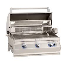 "Fire Magic Aurora 30"" Built-In Gas Grill With Rotisserie And Back Burner - A540i-8EAN/8EAP - Fireplace Choice"