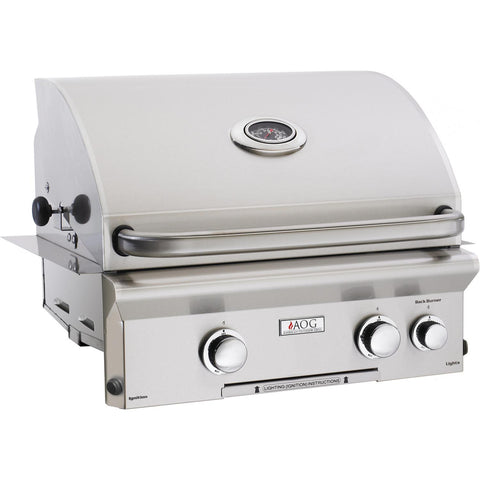 American Outdoor Grill L-Series 24-Inch 2-Burner Built-In Gas Grill - Fireplace Choice