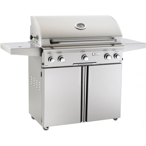 Image of American Outdoor Grill L-Series 36-Inch 3-Burner Freestanding Gas Grill - Fireplace Choice